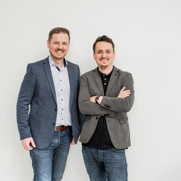 Die beiden Geschäftsführer der Smarthome Werkstatt - Joerg Banik und Johannes Katheder